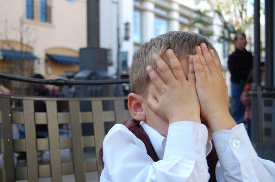 embarrassed boy